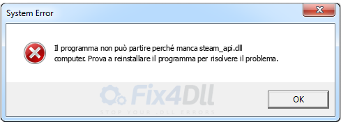 steam_api.dll mancante